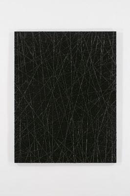 月の夜 116.5×91.0㎝(2010) kite strings,acrylic on board