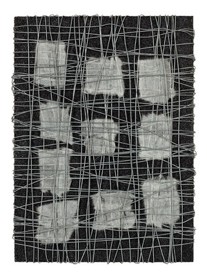無題 33.5×24.0㎝(2009) wires,japanese paper,acrylic on board