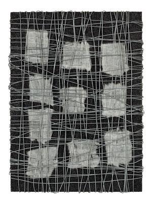 無題 33.5×24.0㎝(2009) wires,japanese paper,acrylic on board