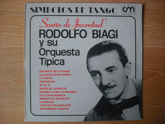 "Plattencover von Rodolfo Biagi ""Sueno De Juventud"" auf ""Tango Argentino von Vinyl"" - Tango-DJ Enrique Jorge"