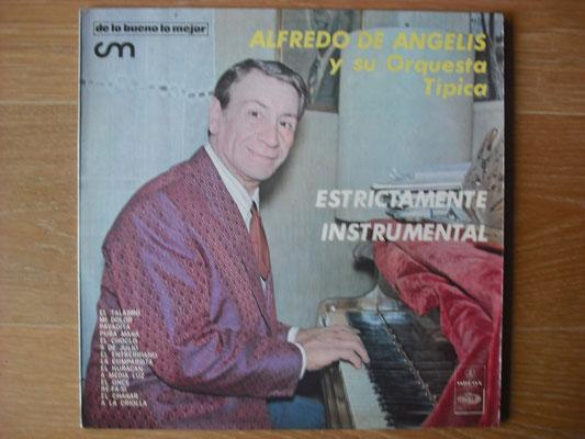 """Plattencover von Alfredo De Angelis """"Estrictamente Instrumental"""" auf """"Tango Argentino von Vinyl"""" - Tango-DJ Enrique Jorge"""