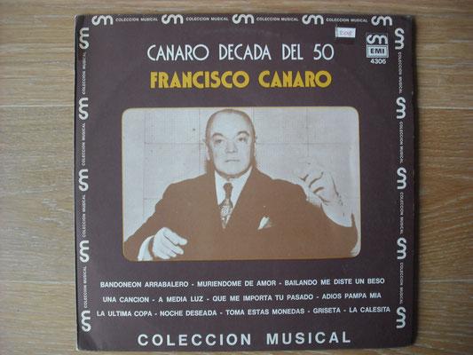 "Plattencover von Francisco Canaro ""Canaro Decada Del 50"" auf ""Tango Argentino von Vinyl"" - Tango-DJ Enrique Jorge"
