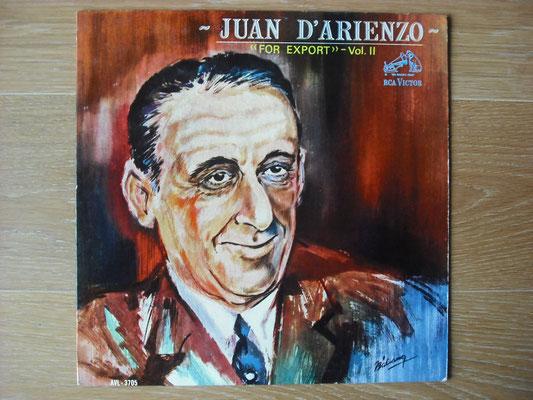 "Plattencover von Juan D´Arienzo ""For Export - Vol. 2"" auf ""Tango Argentino von Vinyl"" - Tango-DJ Enrique Jorge"