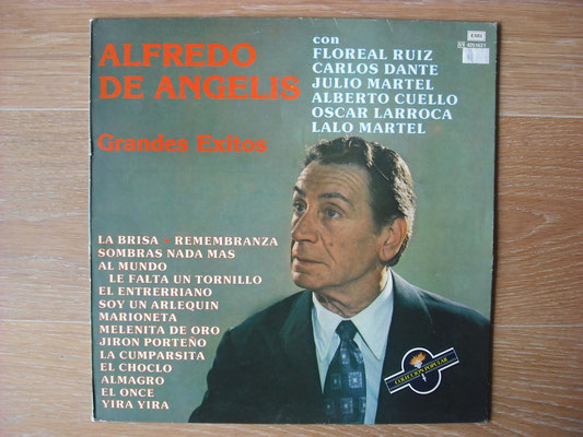 "Plattencover von Alfredo De Angelis ""Grandes Exitos"" auf ""Tango Argentino von Vinyl"" - Tango-DJ Enrique Jorge"