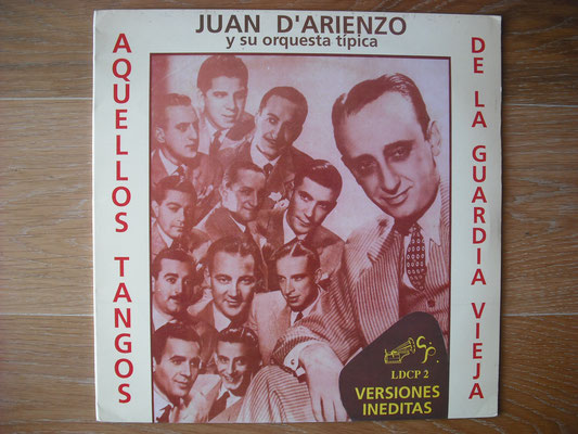 """Plattencover von Juan D´Arienzo """"Aquellos Tangos"""" auf """"Tango Argentino von Vinyl"""" - Tango-DJ Enrique Jorge"""