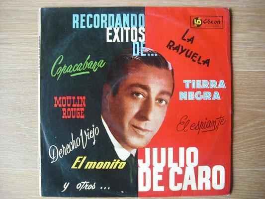 "Plattencover von Julio De Caro ""Recordando Exitos De..."" auf ""Tango Argentino von Vinyl"" - Tango-DJ Enrique Jorge"
