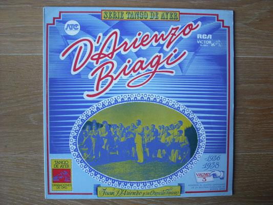 "Plattencover von ""Serie Tango De Ayer: D´Arienzo - Biagi"" auf ""Tango Argentino von Vinyl"" - Tango-DJ Enrique Jorge"