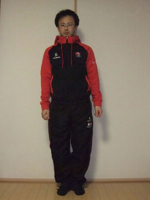 フリースパーカー:XXS Body(Length:Regular) 、Tracksuit Pants:S(Inside leg:SHORT)