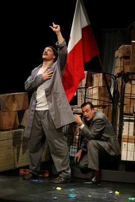 """aus: """"Die Blechtrommel"""" 2015 (mit Ralf Grobel) - Foto (c) Schauspielbühnen Stuttgart"""