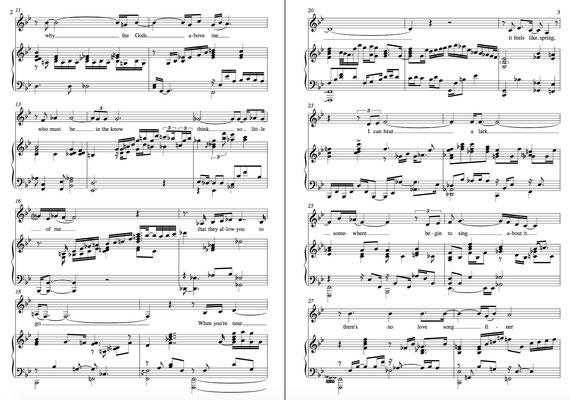 """Auszug einer Transkription von """"Everytime we say Good-bye"""", gesungen von Kurt Elling (Klavierarrangement Laurence Hopgood)"""