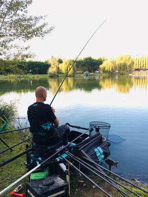 23 postes de pêche au carpodrome de Laurielle (27)