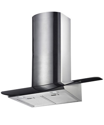 DAN890 90cm Black Glass Canopy Rangehood $750