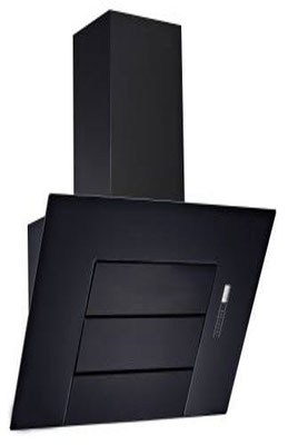 DAN190 90cm Black Squared Glass Canopy Rangehood $850