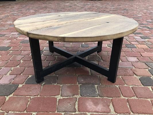 salontafel van oude eiken planken