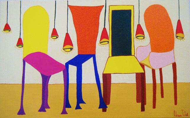 Maison de Poupées. Acrylique sur toile 61x38cm. Disponible - Available