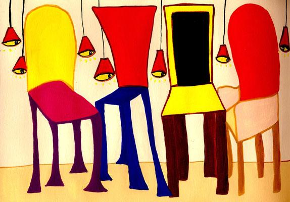 Maison de Poupées Acrylique sur papier 21x30cm. Disponible - Available