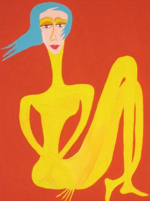 Nu Acrylique sur toile 40x60 cm. Collection particulière