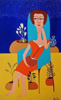 Série Femmes Assises Automne 60x40cm Disponible - Available