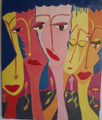 Forme et fond Acrylique sur toile 40x30cm Collection particulière
