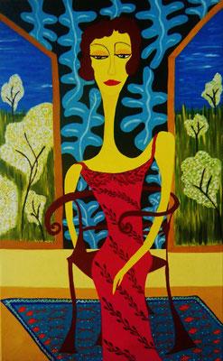 Série Femmes Assises Eté 60x40cm Vendido- Sold