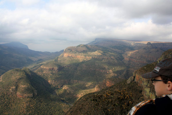 uitzicht op de Blyde rivier canyon