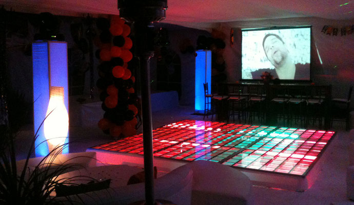 renta de pista iluminada evento en casa lounge