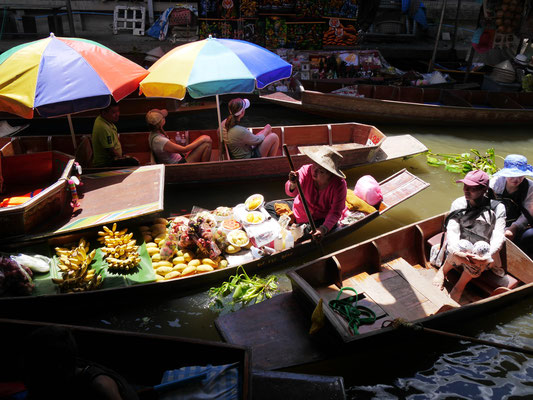 Thailand, Floating Markets bei Bangkok