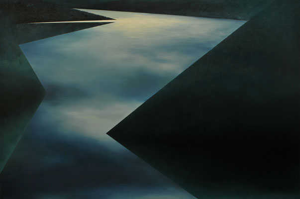 Fiord II, 120x180cm, oil on canvas