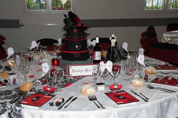 Table thème gothique