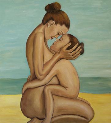 """""""Liebe ist alles 2"""", Öl auf Leinwand, 150x150cm, 2020"""