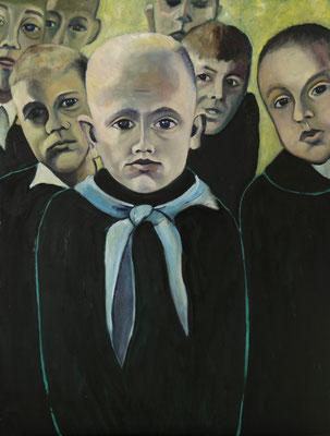 """""""Verlorene Kindheit"""", Öl auf Hartfaser, gerahmt, 80x60cm, 2019"""