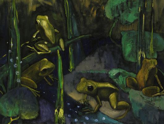 """""""Im Gondwanaland"""", Öl auf Leinwand, 50x60cm, 2018"""