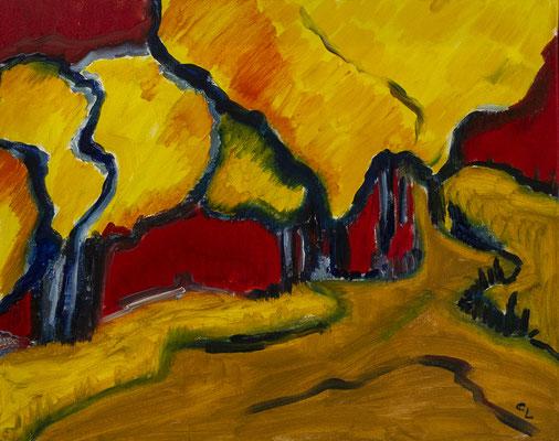"""""""expressionistische LandschaftI"""", Öl auf Leinwand, 50x40cm, 2020"""