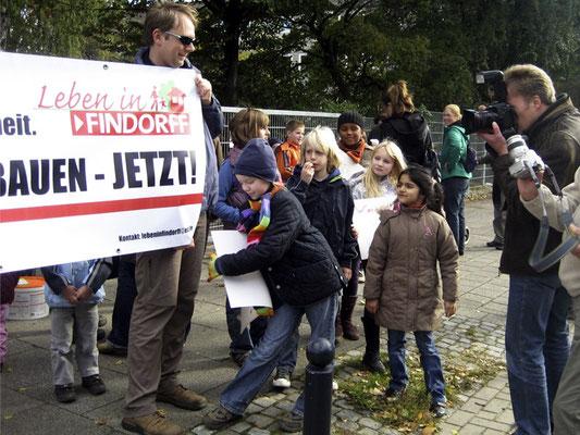 Demonstration zur Admiralstraße. © Ulf Jacob, Leben in Findorff