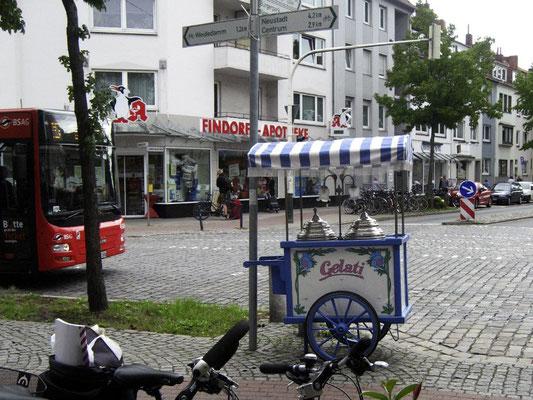 Hemmstraße trifft Admiralstraße. © Ulf Jacob, Leben in Findorff