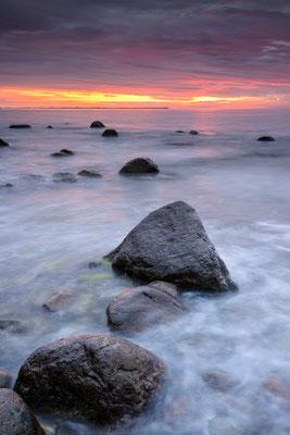 Sonnenuntergang Ostsee bei Lohme