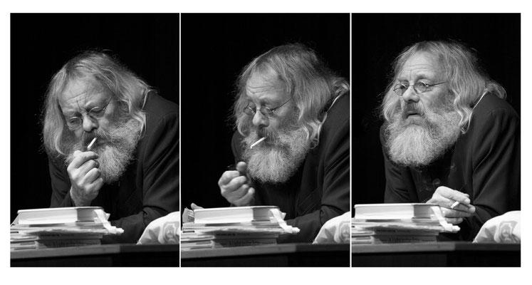 Harry Rowohl raucht und erzählt, für Grevener Zeitung