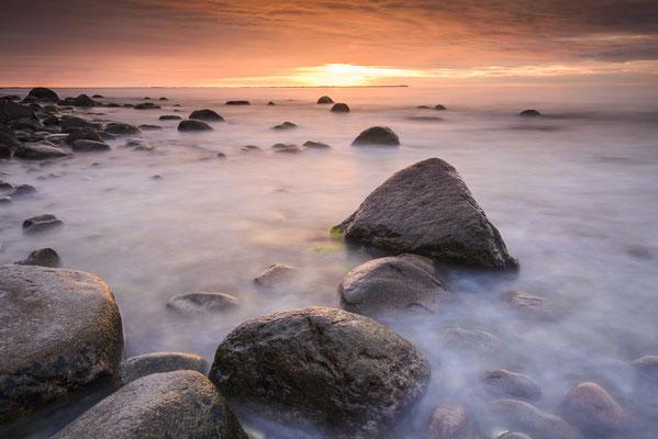 Sonnenuntergang am Strand vonLohme