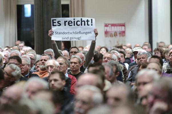 Protest gegen Standortschließung Rheine.