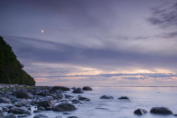 Strand bei Lohme Mond