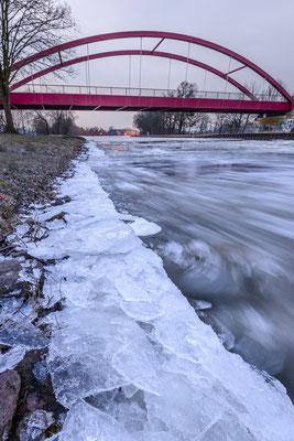 Rheine Altenrheine DEK Eisgang Schürwegbrücke