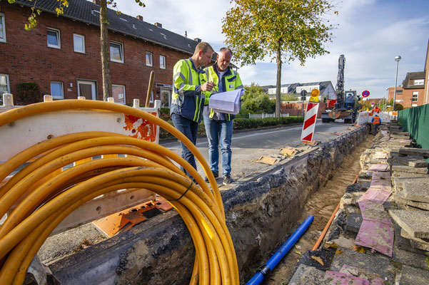 Bauarbeiten Stadtwerke Greven.