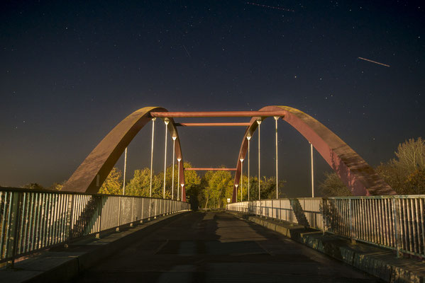 Rheine Altenrheine DEK Schürwegbrücke nachts