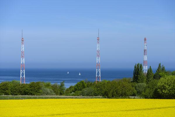 Rügenradio, Türme bei Lohme im Frühling