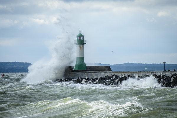 Hafen Sassnitz bei Sturm