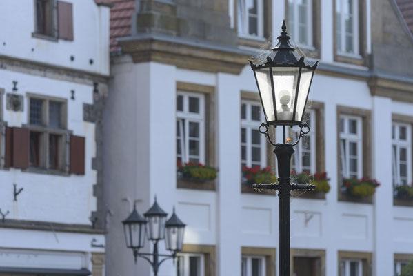 Rheine Marktplatz im Morgenlicht (Detail)