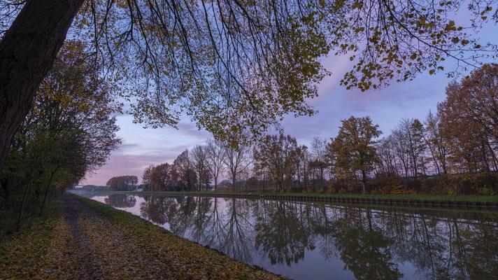 Herbstabend am Dortmund-Ems-Kanal Exeler Brücke Rheine