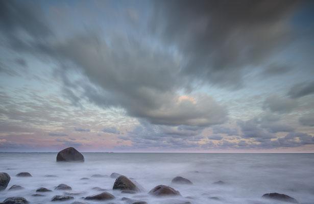Schwanenstein und Tromper Wiek vor Sonnenaufgang