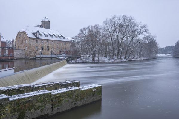 Rheine - Emsmühle im Winter.