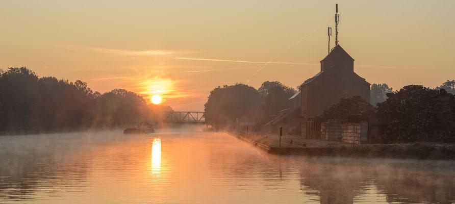 Rheine DEK Sonnenaufgang Kanalhafen Hollweg Kümpers und Co